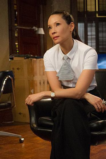Elementary - The Past is Parent - Season 4  - I love the tie - how do i find the tie or cravat watson (lucy liu) is wearing?