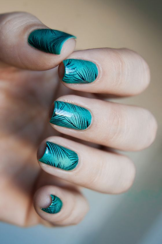 Teal x Lilypad Lacquer - Stamping Topatopa