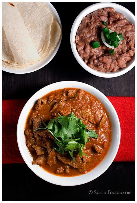 Bistec en Salsa Roja or Mexican Steak in Red Salsa by Spicie Foodie