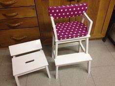 Scaletta come sedia alta per bambini
