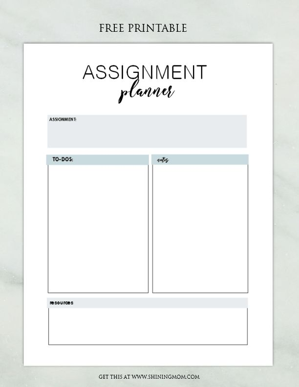 The  Best Assignment Planner Ideas On   College