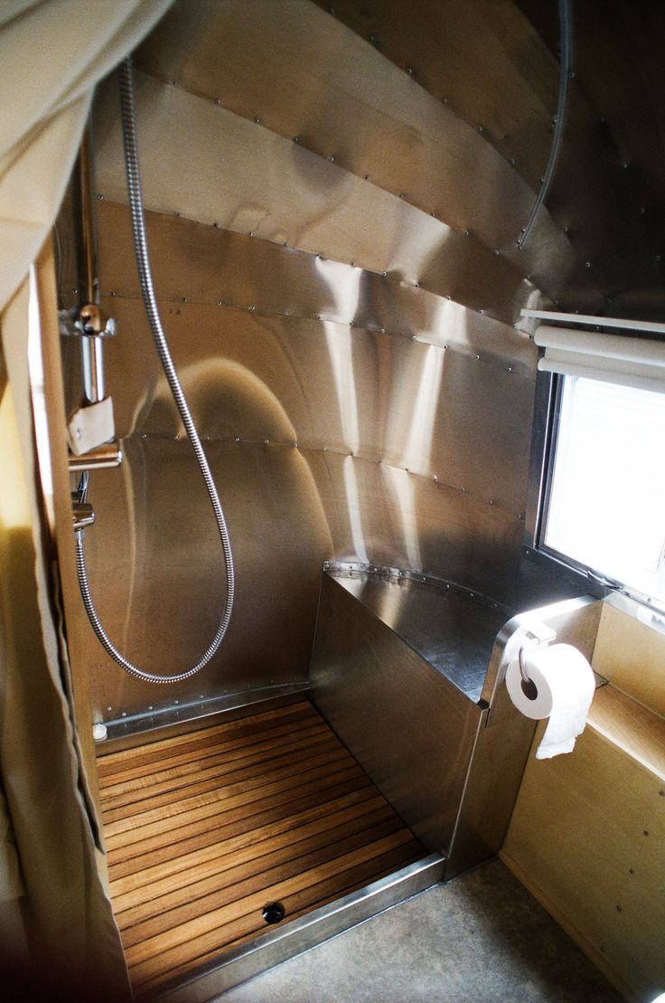 maybe just the raw aluminum?   probably want insulation in walls  though  High End Vintage Airstream