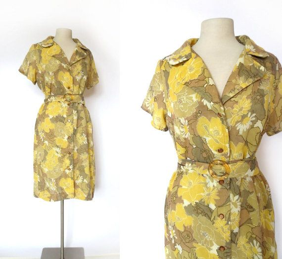 Vintage 1960s Dress / DAISY MONTAGE Dress / By