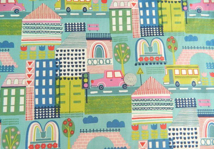 Pretty City Alexander Henry Fabrics by FABRIKSHOP on Etsy https://www.etsy.com/listing/458490940/pretty-city-alexander-henry-fabrics