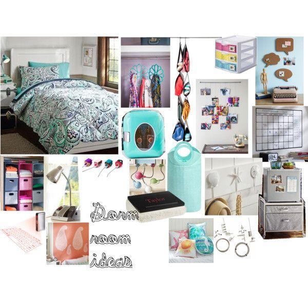 Decorating Ideas > Dorm Room Idea #1 By Sassypug87 On Polyvore  Dorm  ~ 091823_Dorm Room Ideas For Triples
