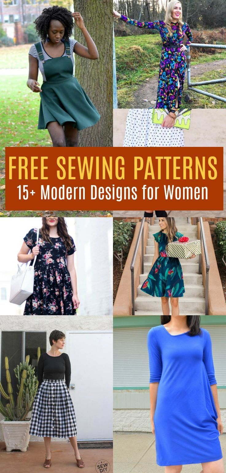 FREE PATTERN ALERT: 15+ Modern Design Sewing Patterns for Women