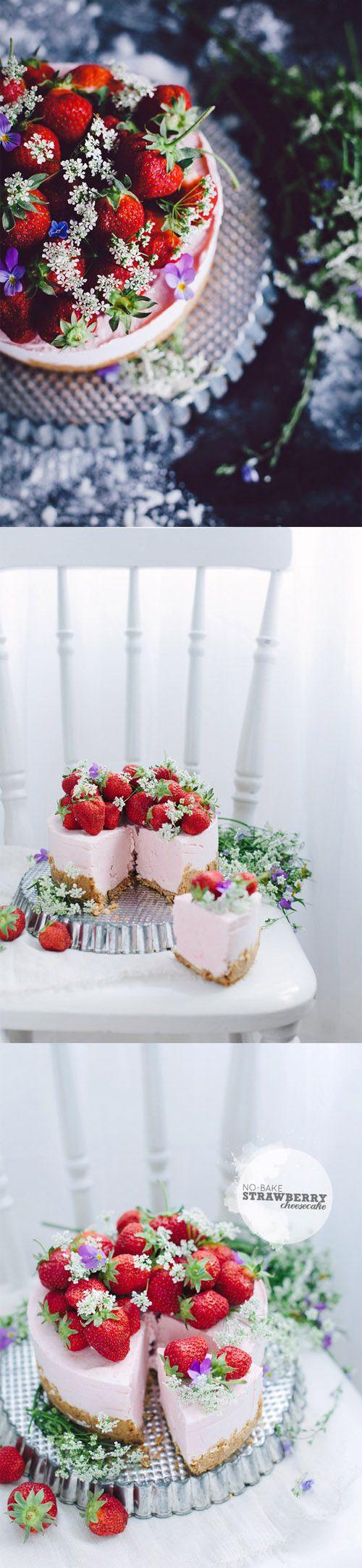 Pastel de queso y fresas - Pecados de Reposteria