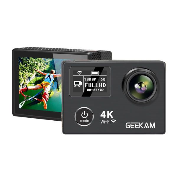 GEEKAM K8 Waterproof 1080p 60fps 4k Ultral HD Sport Action Camera Sale