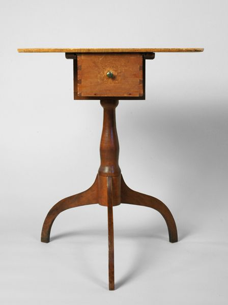 An iconic Shaker Artifact, this stand is a unique example of Shaker design, ingenuity and exquisite joinery
