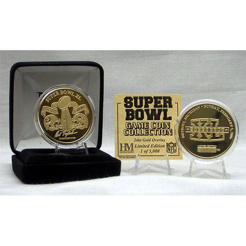 24kt Gold Super Bowl XL flip coin