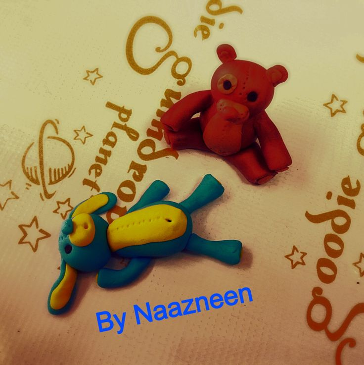 Bears sugarpaste toppers by Naazneen