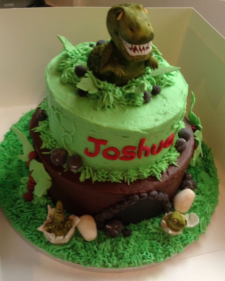 It's all about buttercream and T Rex cake