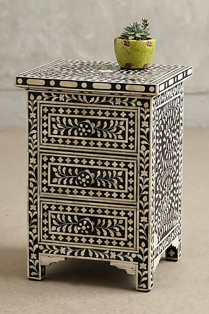 $698, 16x17. Bone Inlay Nightstand - anthropologie.com