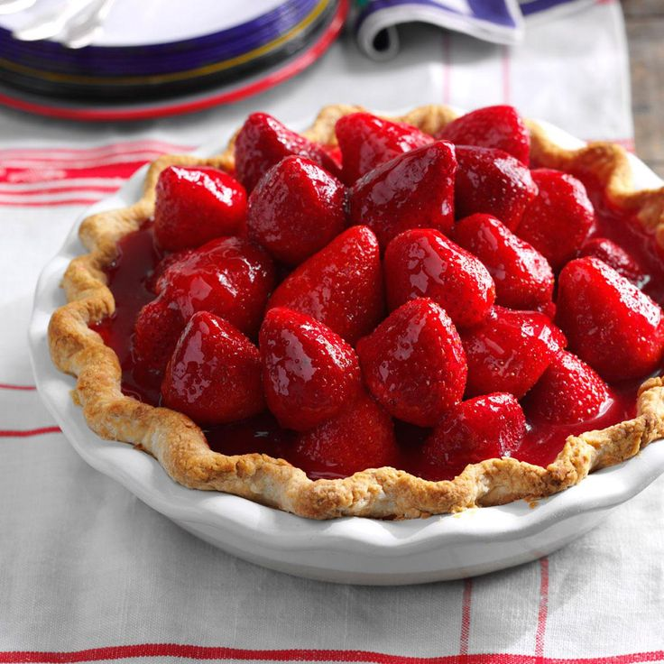 Best Ever Fresh Strawberry Pie Recipe -Next time you get a pint or two of perfectly ripe strawberries, make my favorite pie. It combines fresh berries and a lemony cream cheese layer. If you're in a hurry, use a premade pie shell. —Janet K Leach, Granger, Washington