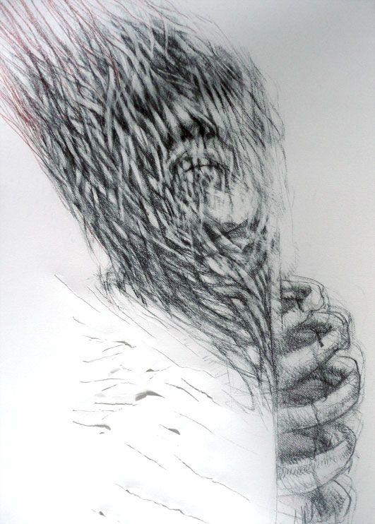 "Artist Judith Mason ""Prometheus"" 2008 Pencil on Paper, 81 X 105CM"
