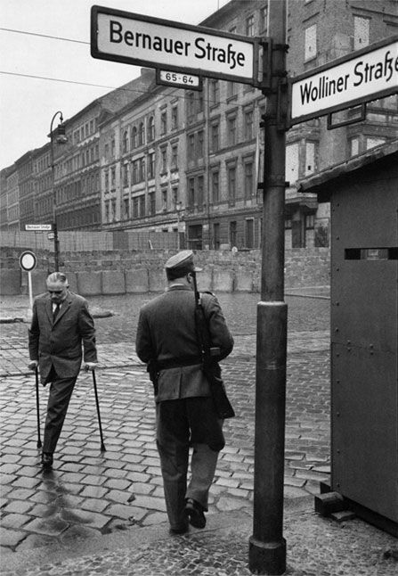 Berlin Wall at the junction of East and West Berlin, Henri Cartier-Bresson 1962.