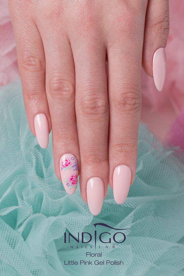 nailart #nude #flower #pink
