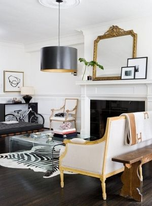 White, black & gold by erin: Decor, Interior Design, Living Rooms, Livingrooms, Interiors, Black White, Gold, Space