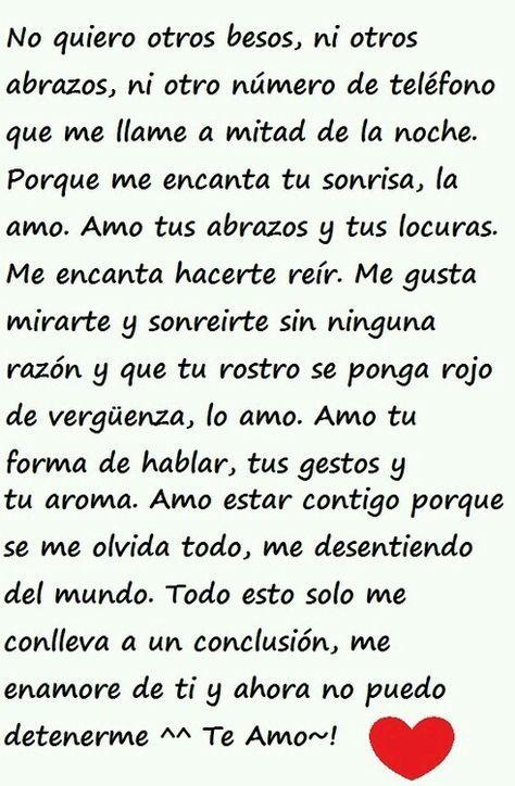Te amo .