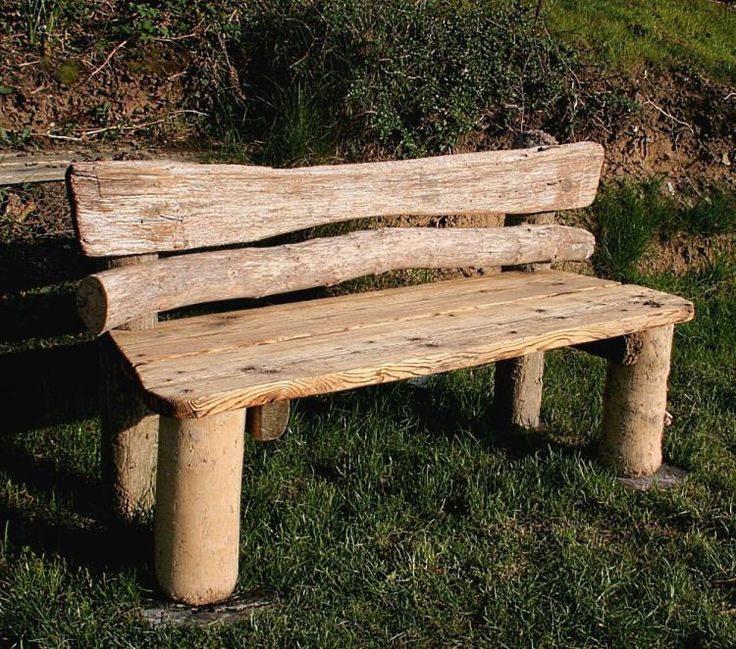I imagine Michael, Wishing Rock's driftwood furniture artist, might have made a bench like this for the beach at Wishing Rock