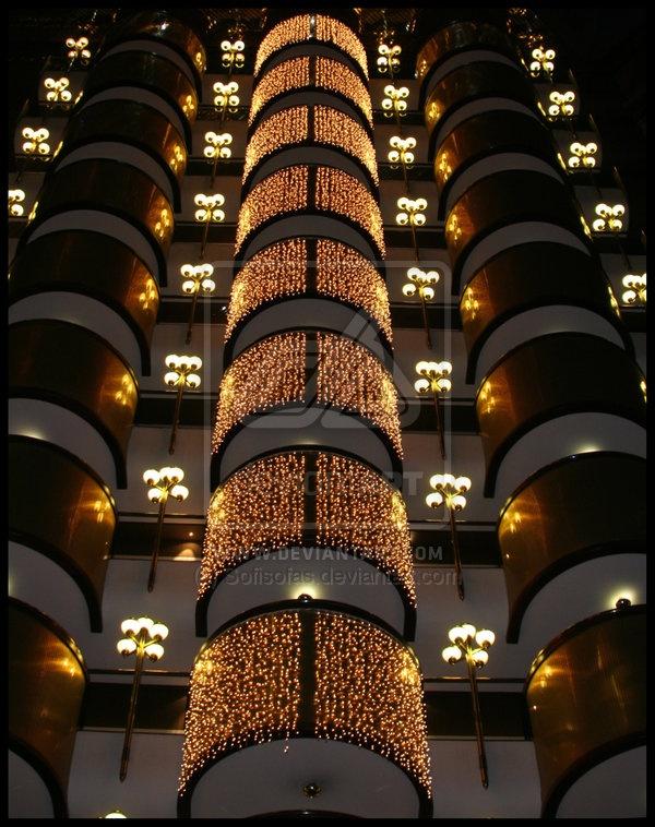 Christmas in Sandton Sun hotel, Johannesburg, South Africa
