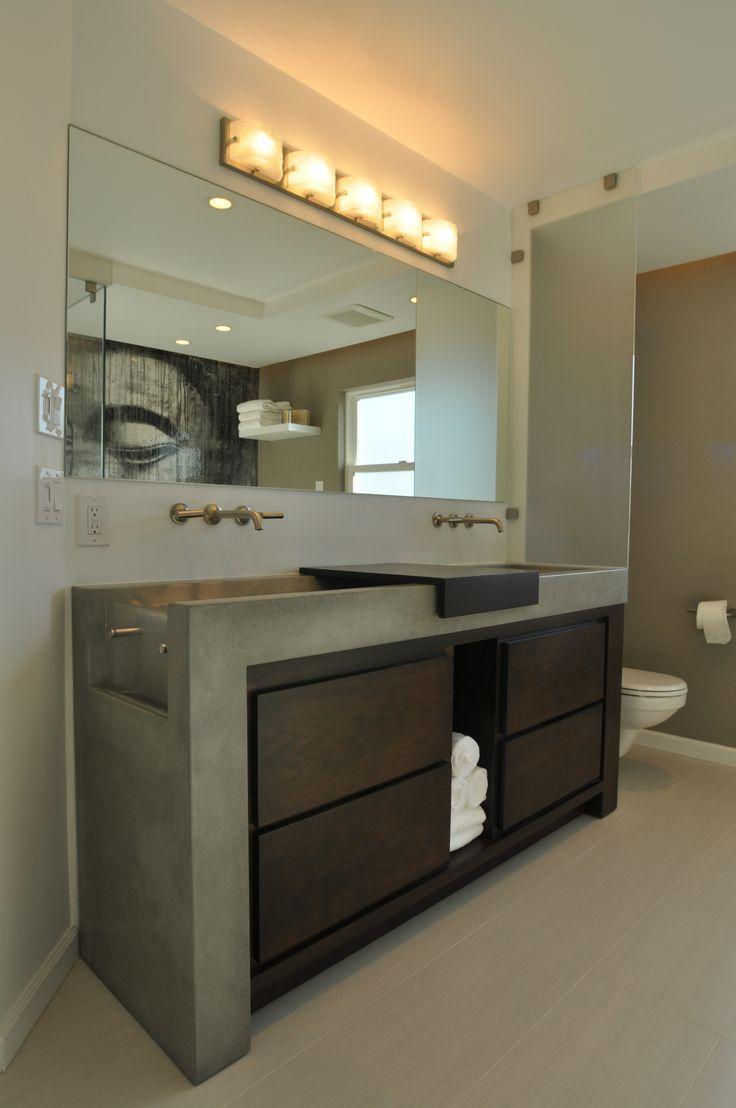 Custom Bathroom Vanities Los Angeles 62 best concrete vanities images on pinterest | concrete design