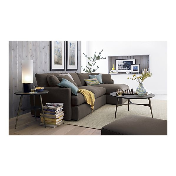 Steppe nightstand sectional sofas crate and barrel and lounge sofa for Crate and barrel living room