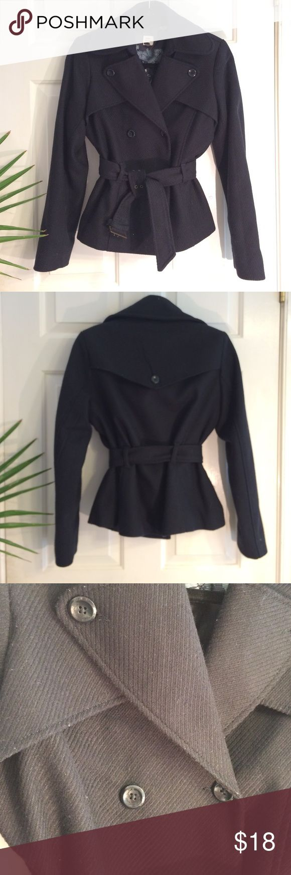 Old Navy Pea Coat Black Old Navy Pea Coat. Belted closure. Good used condition. Old Navy Jackets & Coats Pea Coats