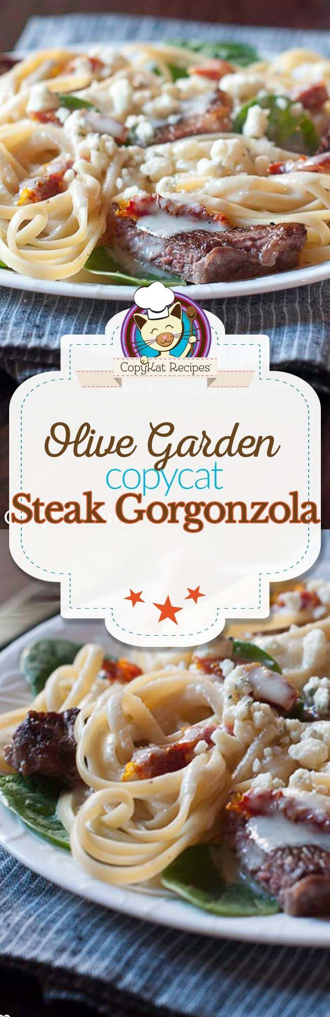 Make the Olive Garden Steak Gorgonzola Alfredo.  You will love this copycat recipe.