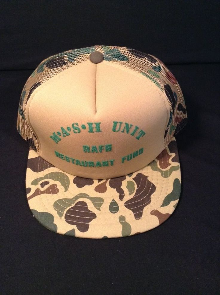 m a s h mash unit rafe restaurant fund soft mesh Truckers Hat Cap Camo One Size #truckers