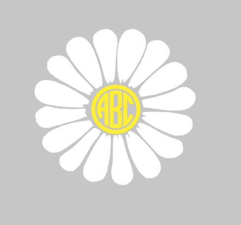 DAISY Monogram Decal for car, laptop, cup, cell phone, Samsung, iphone, notebook, tumbler, boots, mailbox and MORE!