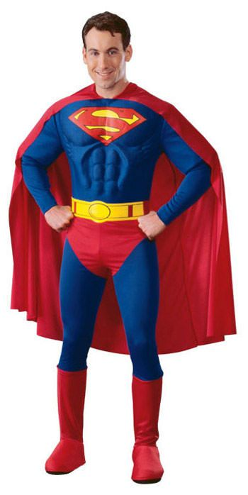 Deluxe Adult Muscle Chest Superman Costume