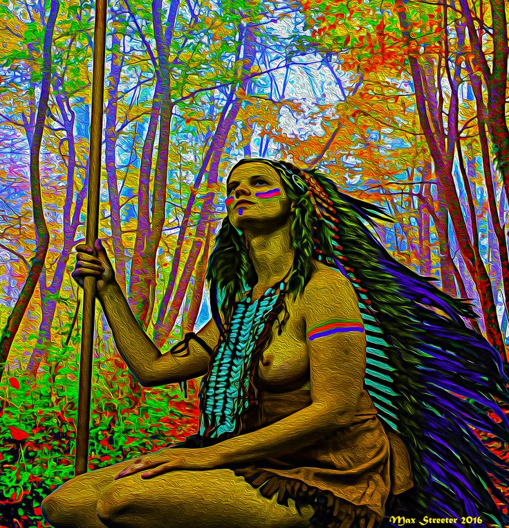 Mother Forest ~ Max Streeter ~ Digital Illustration ~ Artographic ~ Indian ~ Native American