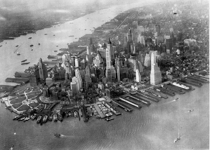 Incredible aerial NYC view from 1931