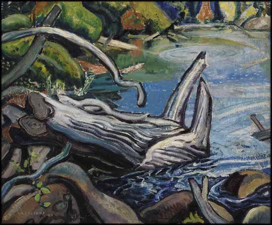 Arthur Lismer - Temagami Backwater 20 x 24 oil on canvas