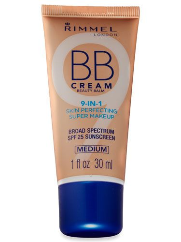 Rimmel London BB Cream's ($7) 9-in-1 saves minutes during the A.M. rush. #rimmel #makeup #bbcream