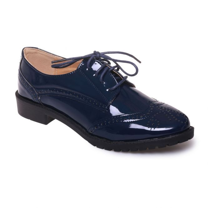 Derbies vernies bleues