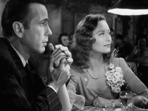 Humphrey Bogart and Michèle Morgan in Passage to Marseille (1944)