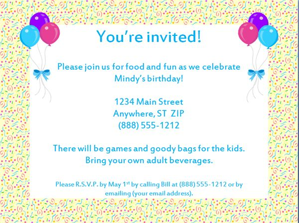 The 25 best Birthday party invitation wording ideas – Invitation for the Birthday Party