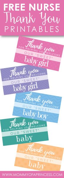 Maternity Nurse Gifts DIY ideas with Free Printable for baby boys, girls and gender neutral!