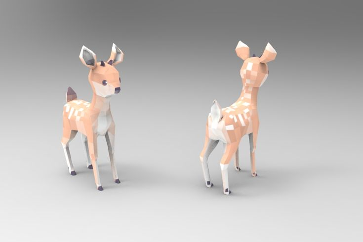 I finally learned to use maya just so I could model some cute low poly things…