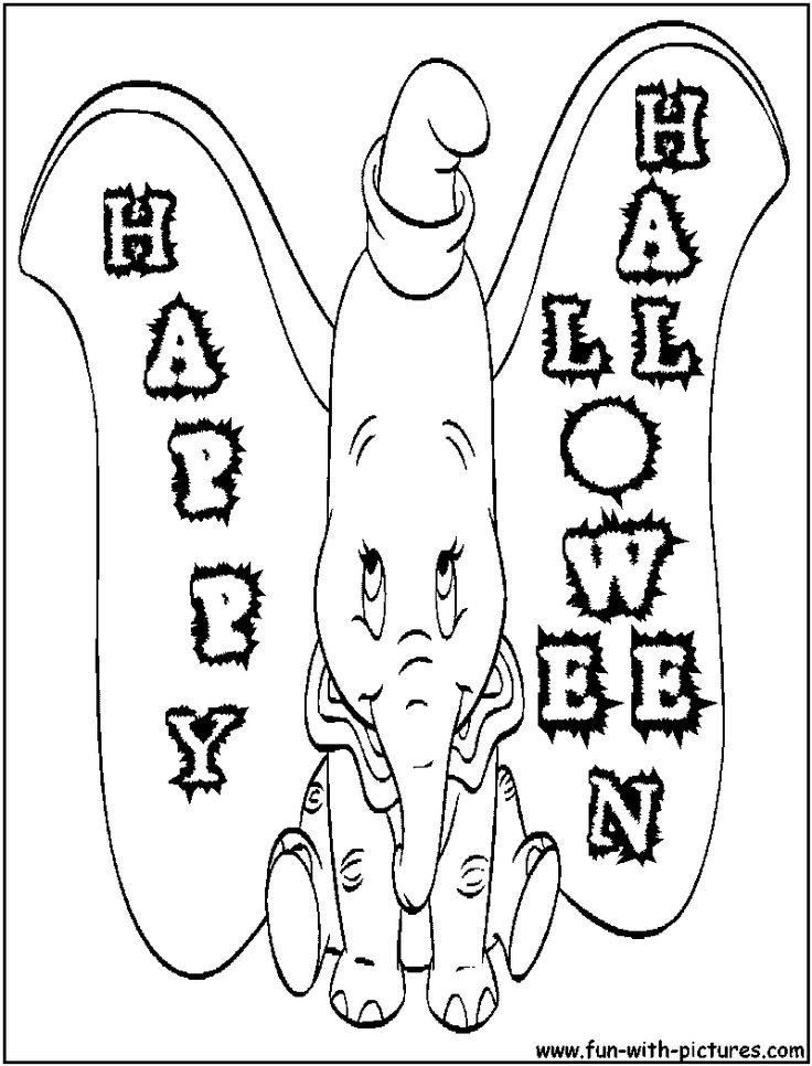 halloween elephant coloring pages - photo#7
