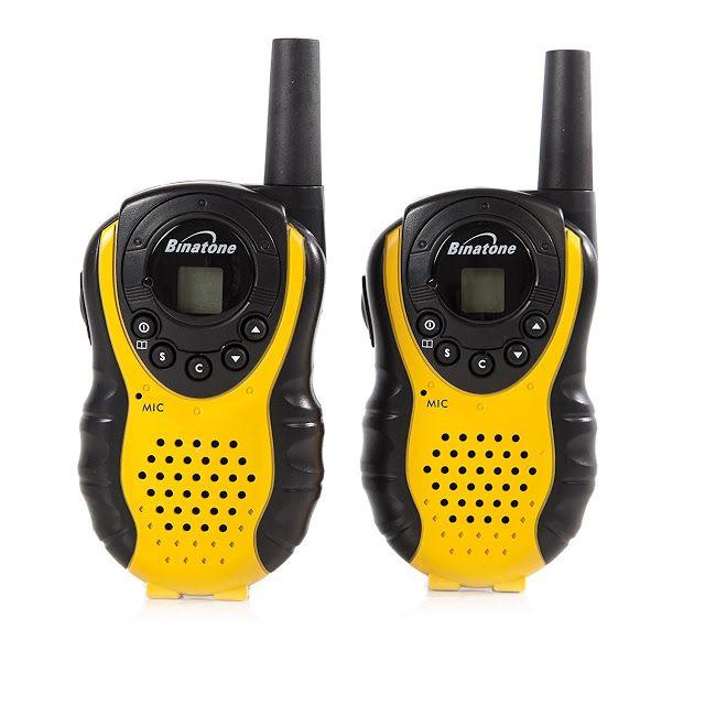 Binatone Latitude 100 Twin Black/Yellow Walkie Talkie