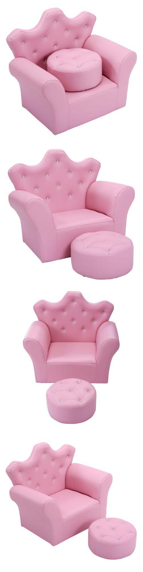Sofas and Armchairs 134648: Pink Princess Sofa Armchair Couch Children Toddler Birthday Gift W Ottoman 23 -> BUY IT NOW ONLY: $66.49 on eBay!