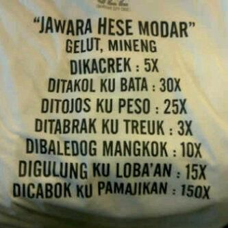 Jawara Hese Modar na :D