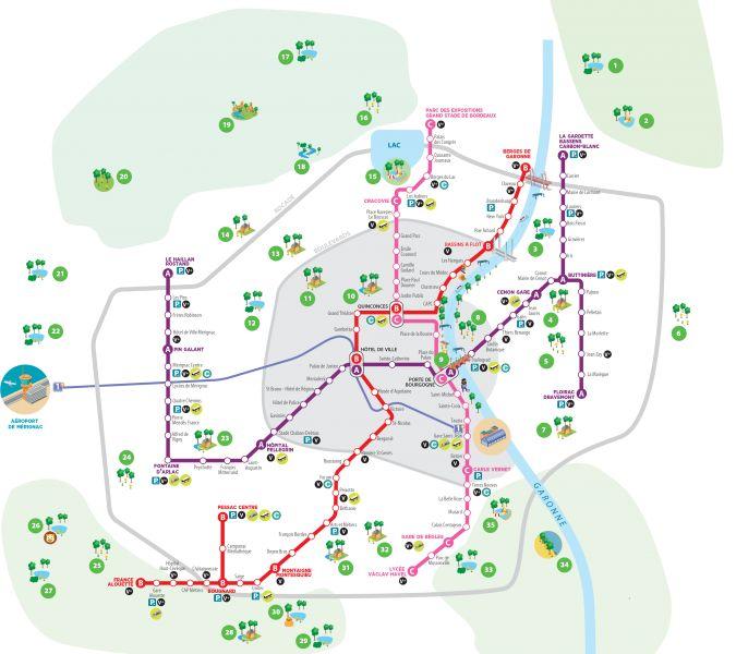 Parcs de la CUB : Carte Réseau Tbc