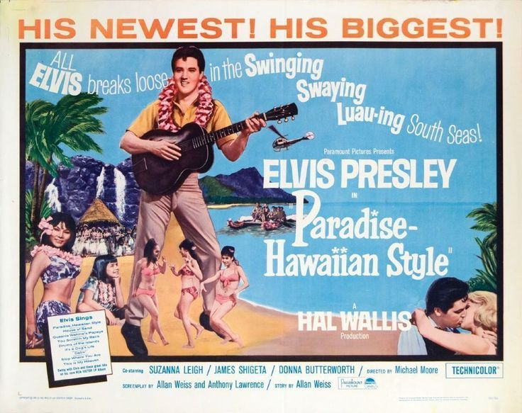 Elvis Presley movie posters | ... - Elvis Presley Original Paradise - Hawaiian Style Movie Poster