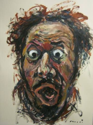 Self portrait-screaming#11