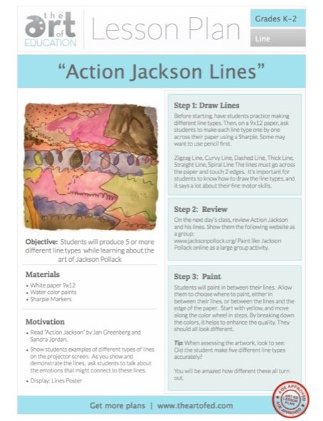 Click to Download Free Lesson Plan: Action Jackson Lines