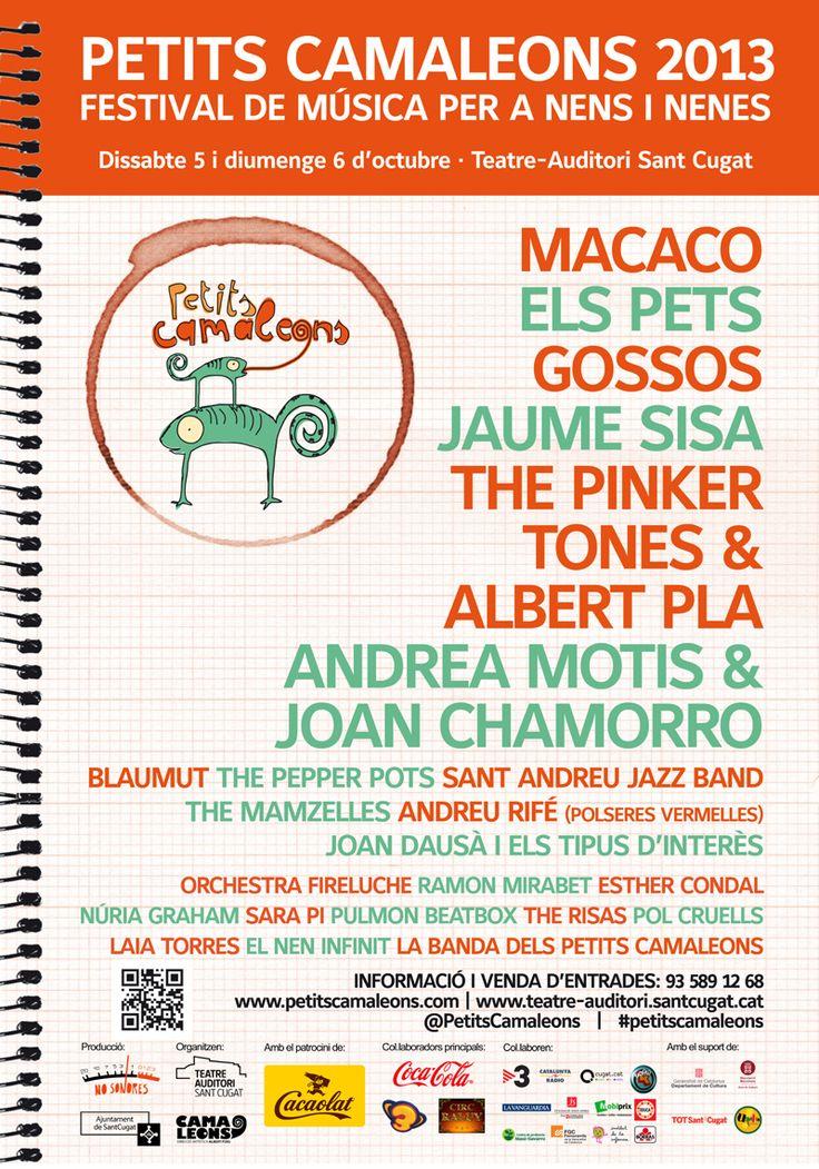 En octubre se celebra #PetitsCamaleons 2013 un festival de música para niños en #Barcelona #ocio #familiar